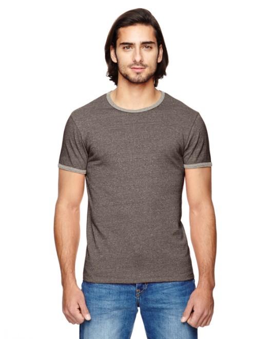 Picture of Alternative 01957E Men's Eco-Mock Twist Ringer Crew T-Shirt