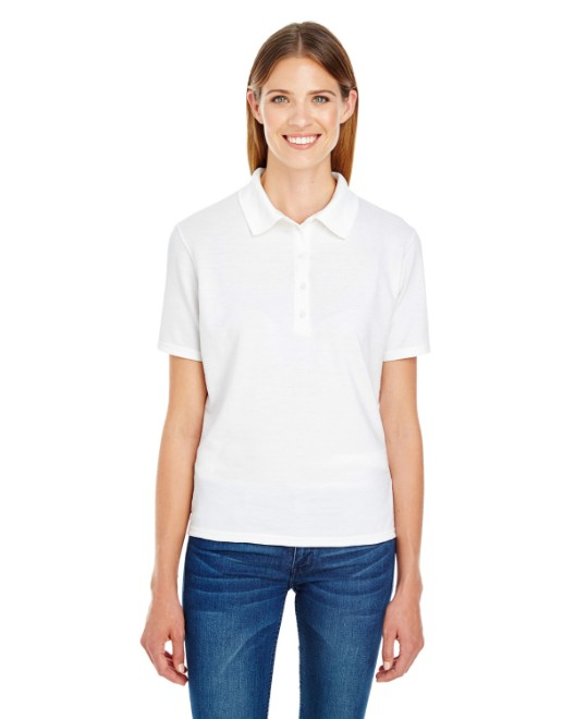 Picture of Hanes 035P Womens 6.5 oz. X-Temp Pique Short-Sleeve Polo with Fresh IQ