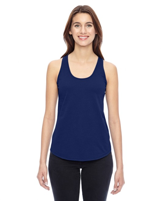 Picture of Alternative 04031C1 Womens Shirttail Satin Jersey Tank