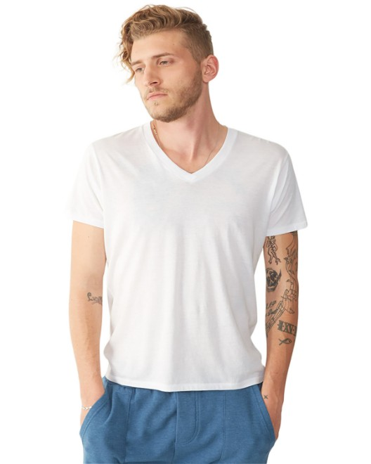 Picture of Alternative 04532P1 Men's Organic Pima Cotton Perfect V-Neck T-Shirt