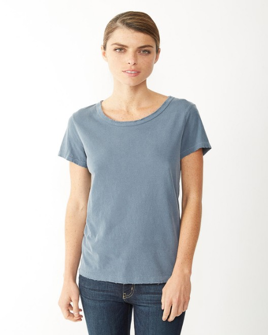 Picture of Alternative 04860C1 Womens Vintage Garment-Dyed Distressed T-Shirt