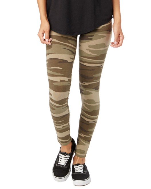 Picture of Alternative 07004H Womens Cotton/Spandex Printed Go-To Legging