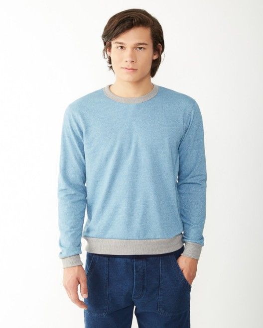 Picture of Alternative 09898E Men's Champ Eco-Mock Twist Ringer Sweatshirt