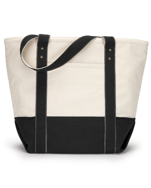 Picture of Gemline 1211 Seaside Zippered Cotton Tote
