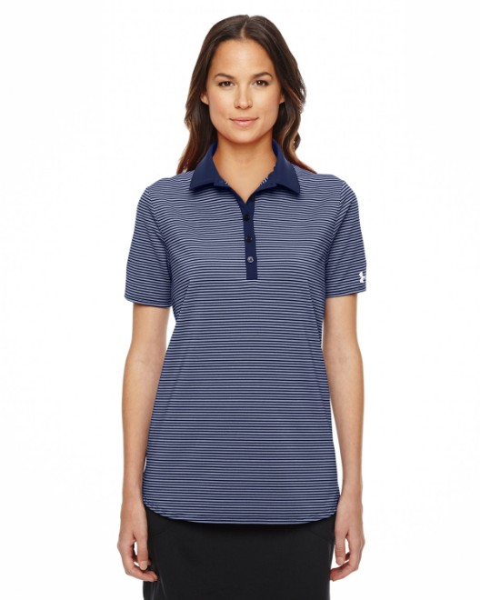 Picture of Under Armour 1283944 Ladies' Playoff Stripe Polo