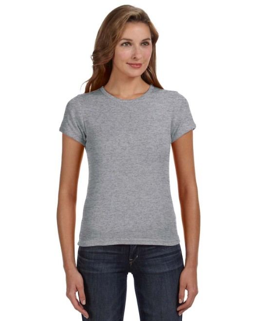 Picture of Anvil 1441 Womens 1x1 Baby Rib Scoop T-Shirt