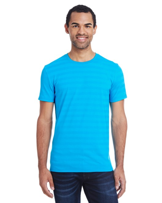 Picture of Threadfast Apparel 152A Men's Invisible Stripe Short-Sleeve T-Shirt