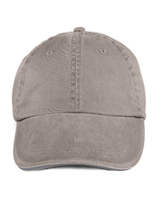 Picture of Anvil 166 Adult Solid Low-Profile Sandwich Trim Twill Cap
