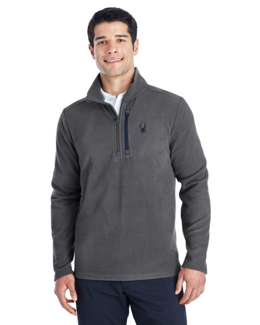 Picture of Spyder 187332 Men's Transport Quarter-Zip Fleece Pullover