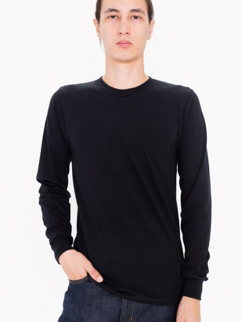 Picture of American Apparel 2007ORW Unisex Organic Fine Jersey Long-Sleeve T-Shirt