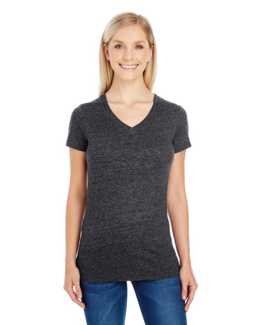 Picture of Threadfast Apparel 202B Womens Triblend Short-Sleeve V-Neck T-Shirt