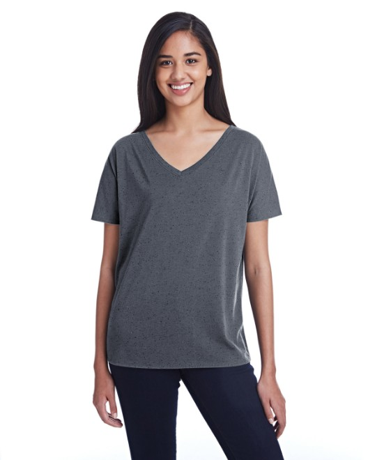 Picture of Threadfast Apparel 203FV Womens Triblend Fleck Short-Sleeve V-Neck T-Shirt