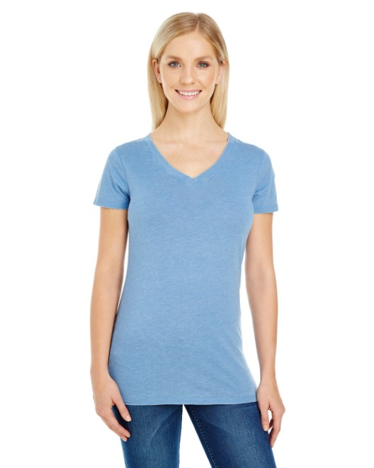 Picture of Threadfast Apparel 208B Womens Vintage Dye Short-Sleeve V-Neck T-Shirt