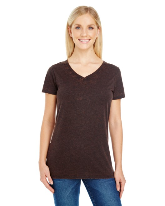 Picture of Threadfast Apparel 215B Womens Cross Dye Short-Sleeve V-Neck T-Shirt