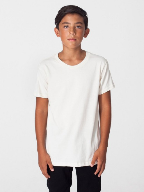 Picture of American Apparel 2201ORW Youth Organic Fine Jersey Short-Sleeve T-Shirt