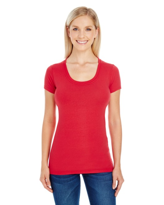 Picture of Threadfast Apparel 220S Womens Spandex Short-Sleeve Scoop Neck T-Shirt