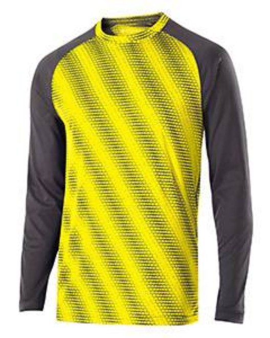 Picture of Holloway 222211 Youth Polyester Long Sleeve Training Torpedo Shirt