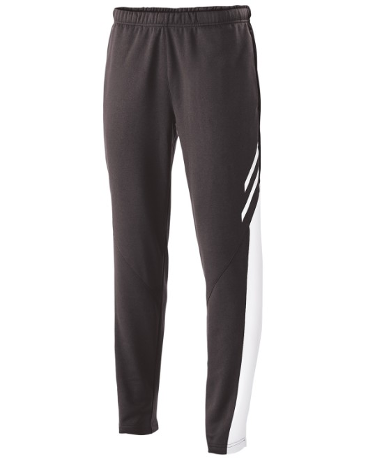 Picture of Holloway 229670 Youth Temp-Sof Fabric Performance Fleece Flux Tapered-Leg Warm-Up Pant