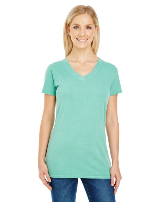 Picture of Threadfast Apparel 230B Womens Pigment-Dye Short-Sleeve V-Neck T-Shirt