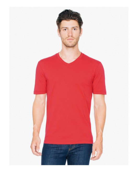 Picture of American Apparel 24321OW Unisex Organic Fine Jersey Short-Sleeve Classic V-Neck