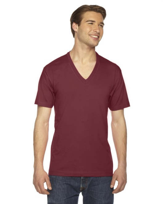 Picture of American Apparel 2456 Unisex USA Made Fine Jersey Short-Sleeve V-Neck T-Shirt