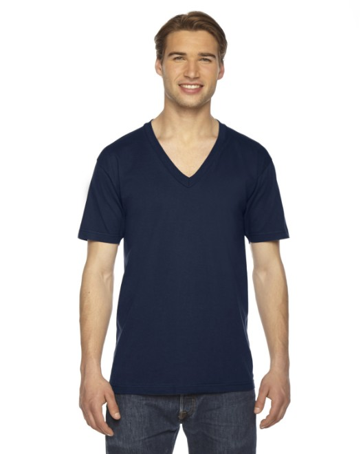 Picture of American Apparel 2456W Unisex Fine Jersey Short-Sleeve V-Neck T-Shirt