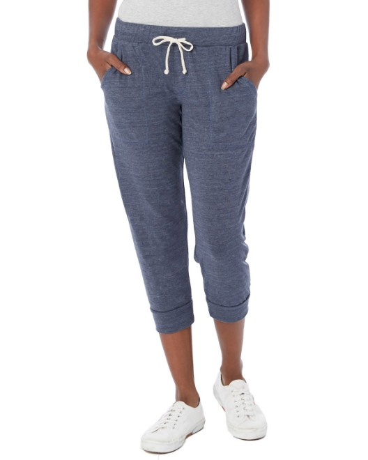 Picture of Alternative 2900E Womens Cropped Eco Jersey Jogger Pants