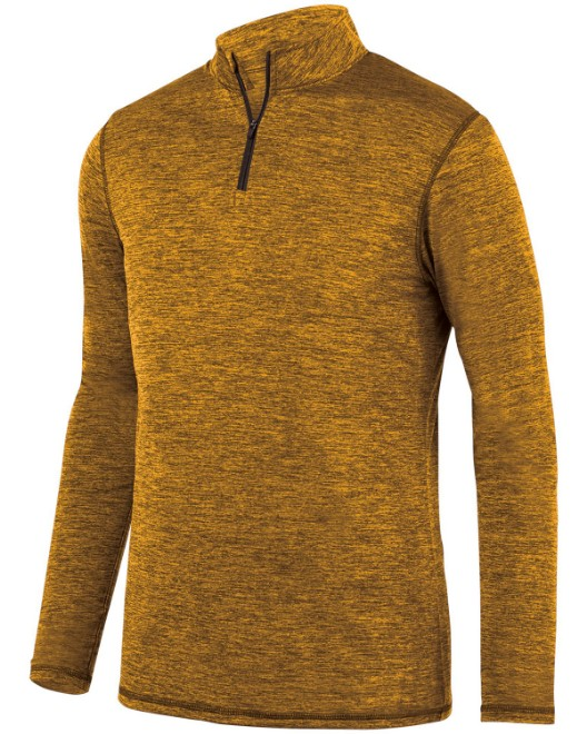 Picture of Augusta Sportswear 2955 Adult Intensify Black Heather Quarter-Zip Pullover
