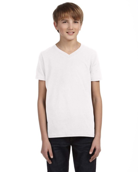 Picture of Bella + Canvas 3005Y Youth Jersey Short-Sleeve V-Neck T-Shirt