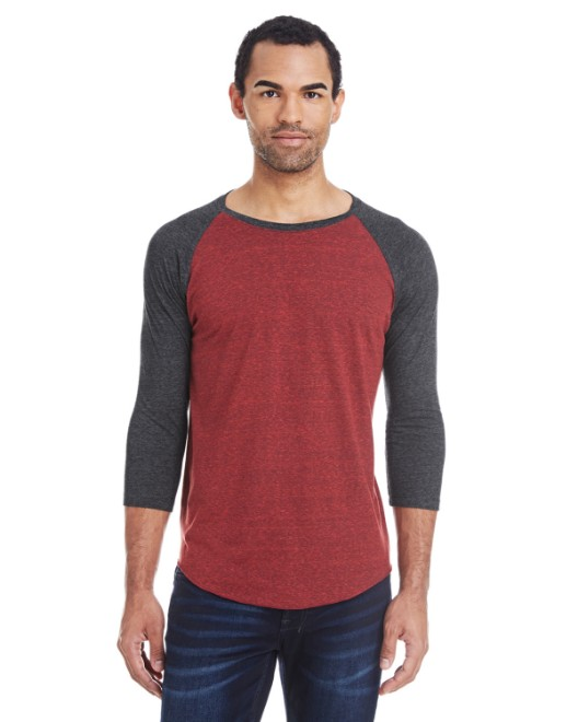 Picture of Threadfast Apparel 302G Unisex Triblend 3/4-Sleeve Raglan