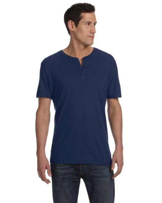 Picture of Bella + Canvas 3125 Men's Triblend Short-Sleeve Henley