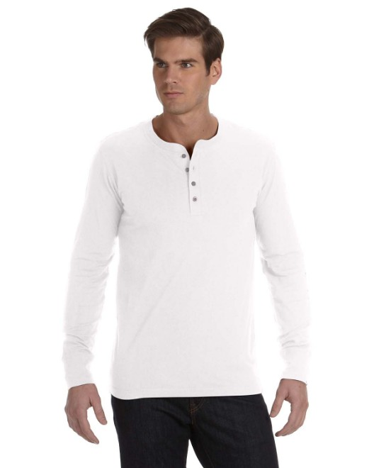 Picture of Bella + Canvas 3150 Men's Jersey Long-Sleeve Henley
