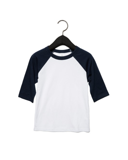 Picture of Bella + Canvas 3200T Toddler 3/4-Sleeve Baseball T-Shirt