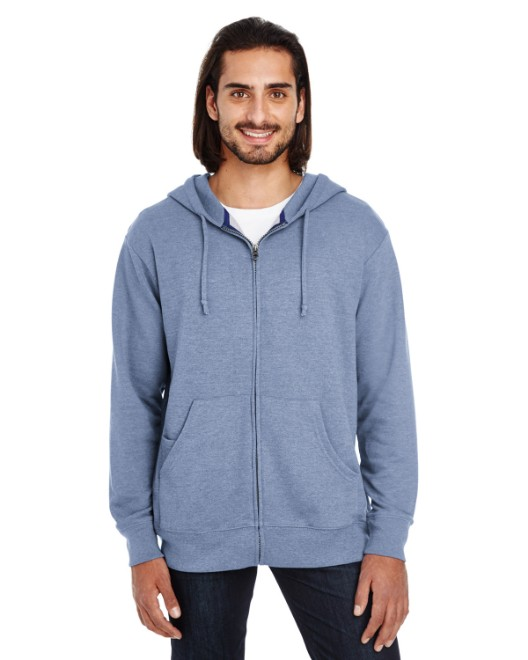 Picture of Threadfast Apparel 321Z Unisex Triblend French Terry Full-Zip