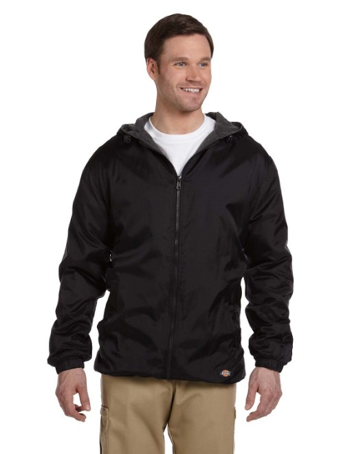 Picture of Dickies 33237 Men's Fleece-Lined Hooded Nylon Jacket