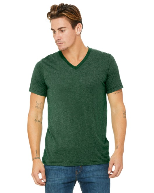 Picture of Bella + Canvas 3415C Unisex Triblend Short-Sleeve V-Neck T-Shirt