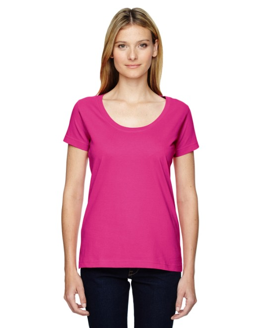 Picture of LAT 3504 Womens Scoop Neck Fine Jersey T-Shirt