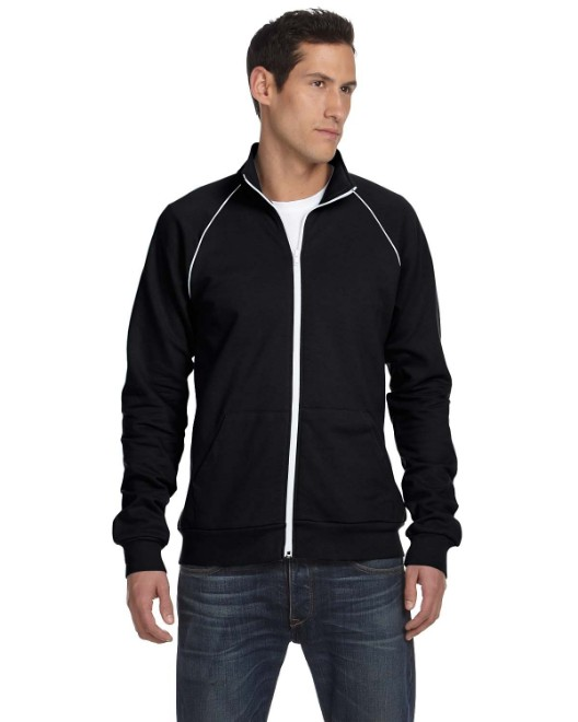 Picture of Bella + Canvas 3710 Men's Piped Fleece Jacket