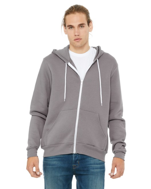 Picture of Bella + Canvas 3739 Unisex Poly-Cotton Fleece Full-Zip Hoodie