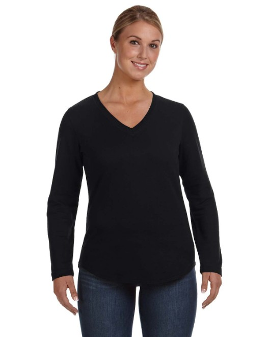 Picture of LAT 3761 Ladies' V-Neck French Terry Pullover