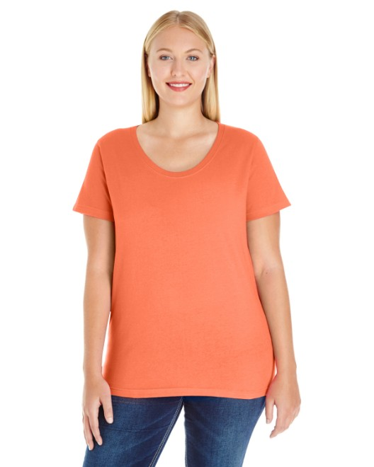 Picture of LAT 3804 Womens Curvy Premium Jersey T-Shirt