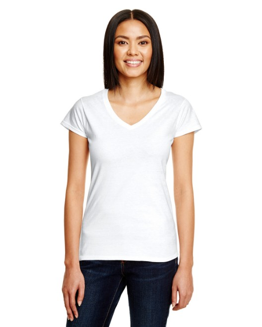 Picture of Anvil 380VL Womens Lightweight Fitted V-Neck T-Shirt
