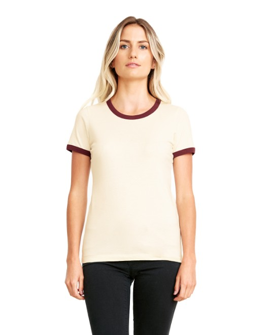 Picture of Next Level 3904 Womens Ringer T-Shirt