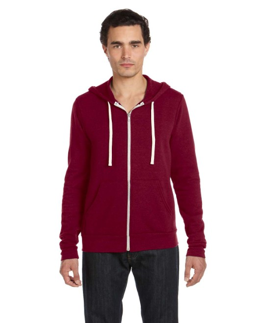 Picture of Bella + Canvas 3909 Unisex Triblend Sponge Fleece Full-Zip Hoodie