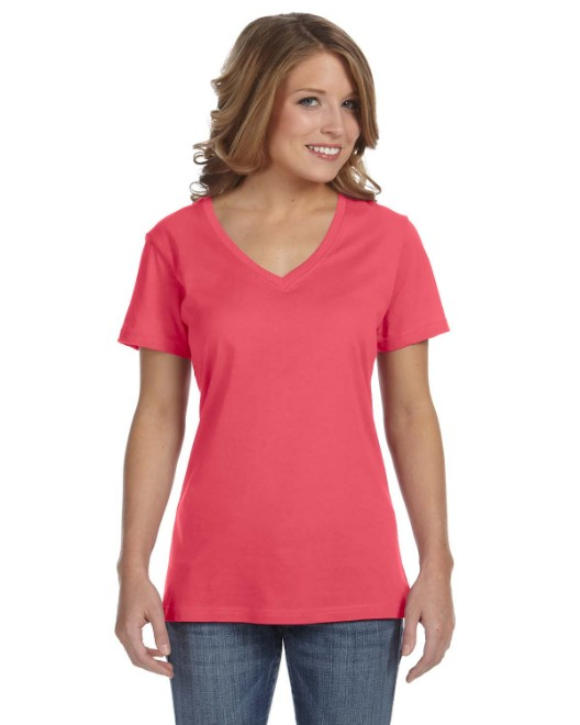 Picture of Anvil 392A Womens Featherweight V-Neck T-Shirt