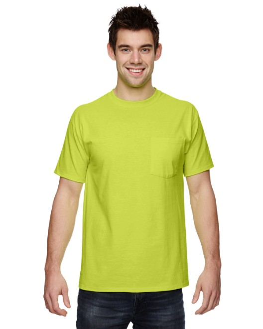 Picture of Fruit of the Loom 3931P Adult 5 oz. HD Cotton Pocket T-Shirt