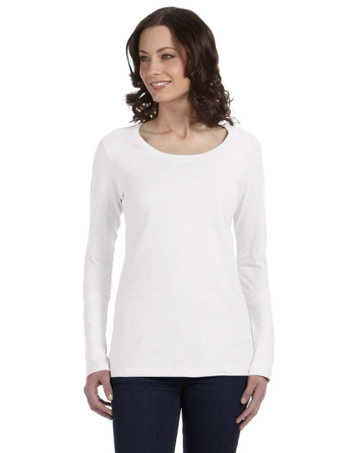 Picture of Anvil 399 Womens Featherweight Long-Sleeve Scoop T-Shirt