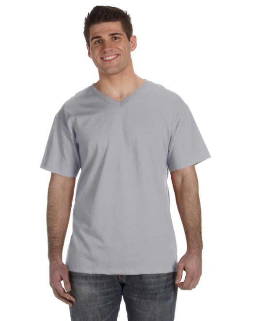 Picture of Fruit of the Loom 39VR Adult 5 oz. HD Cotton V-Neck T-Shirt