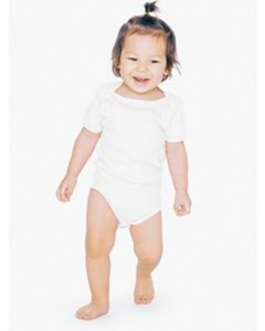 Picture of American Apparel 4001ORW Infant Organic Baby Rib Short-Sleeve One-Piece