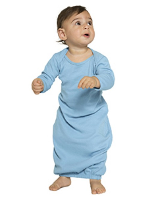 Picture of American Apparel 4083W Infant Baby Rib Long Sleeve Gown T-Shirt